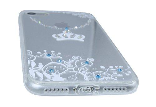 """Motiv TPU-Schale """" VENETIAN DREAM """" SchutzHülle für IPHONE 8 Silikon Hülle Bumper Zubehör Schale Bag Tasche Venedig Krone Maske TPU DESIGN-2-Schwarz @ Energmix Design 2-Weiss"""