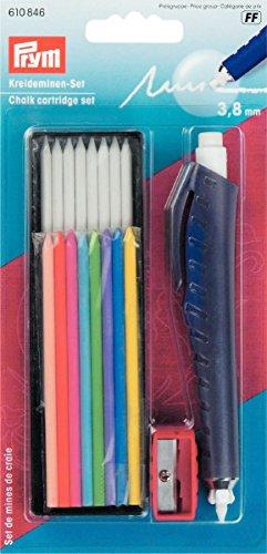 Juego de cartuchos de tiza Prym para escribir / marcar y dibujar en textiles / papel / madera / plástico, plástico / metal, multicolor