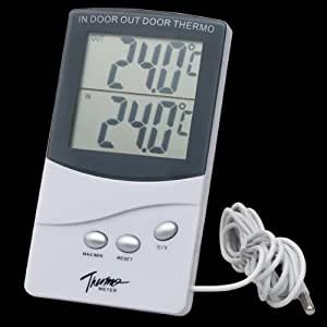 Digital Indoor/ Outdoor Temperature Station LCD Displayed Thermometer