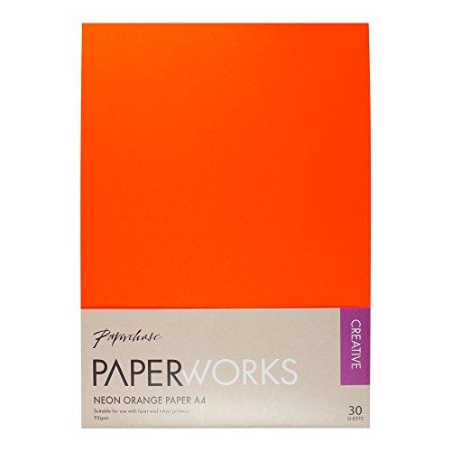 NEON ORANGE A4-Papier–Set von 30