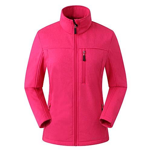 Eono Essentials Veste souple pour femme (TailleS, Mélange de roses),veste softshell femme,veste femme hiver