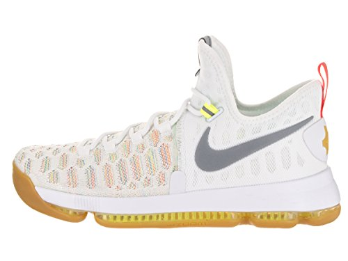 Nike Zoom Kd 9, Chaussures de Sport-Basketball Homme Verde (Verde (multi-color/metallic silver))