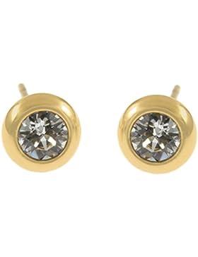 OPTEX Damen Ohrstecker Titan gold mit Swarovski Elements
