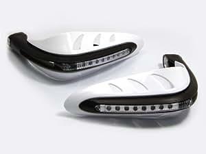 Protèges Main Blancs Moto Quad Avec Feux De Croisement LED