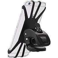 Handyhalterung Fahrrad, Cocoda 360°Rotation Handyhalter für iPhone XS Max/XS/XR/8/7/6 Plus, Samsung & alle 4,5 - 6,5 Zoll Handys, Universal Silikon Verstellbarer Handyhalter für Motorrad (Schwarz)