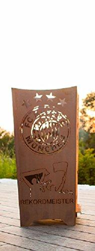 """Ferrum Edelrost Feuerkorb """"Rekordmeister"""" - FC Bayern München FCB-002"""