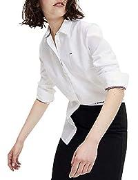 Tommy Hilfiger Slim Fit Oxford Shirt Camisa Deportiva para Mujer