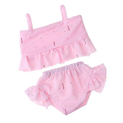 Unbekannt Sharplace 2-tlg Schöne Puppen Bikini BH & Slip Badeanzug Schwimmanzug Kleidung Für 18 Zoll American Girl Puppe Zubehör - Rosa - Girl Kleidung American Puppe Strand