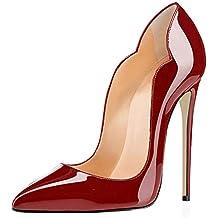 check-out 9e78b 93b47 Amazon.it: Scarpe Con Il Tacco Di 15 Cm - Rosso