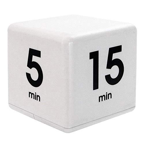 Sguan-wu Küche Kochen Yoga Timer Cube 15.05.30.60 Minuten Wecker Nickerchen Erinnerung White