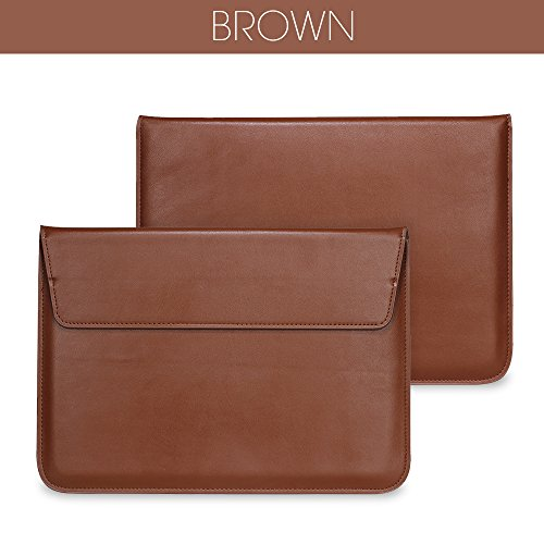 "MOCA Envelope Sleeve Bag Pouch Case Cover (Ultra Slim) Executive Class Pu Leather Sleeve Bag Carrying Case Cover Pouch For MacBook Air Pro Retina 13"" inch 13.3 inch,Brown"
