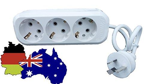 3 fach Reiseadapter für Australien. Stromlieferant für 3 Geräte gleichzeitig! Geniale Erfindung.