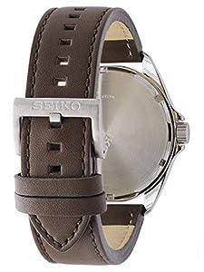 Seiko Reloj Analógico para Hombre de Energía Solar con Correa en Cuero SNE487P1 de Seiko