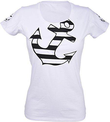 Küstenluder Sailor ANCHOR Retro Anker Shirt / T-Shirt - Weiß Rockabilly