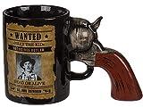 Bada Bing Kaffeetasse Tasse Becher Revolver Griff Steckbrief Wanted Billy The Kid Pistole Waffe Ca. 18 x 11,5 cm Büro 87