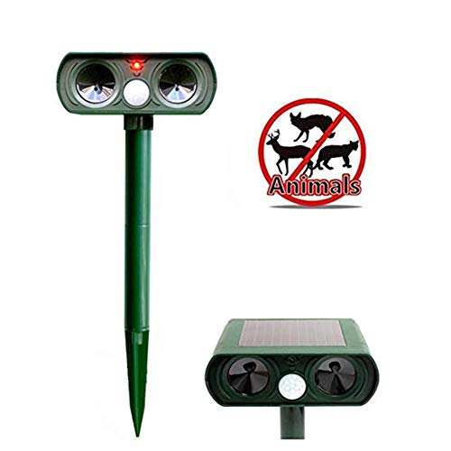 1pc solaire animaux Pourfendeur ultrasons antiparasite...