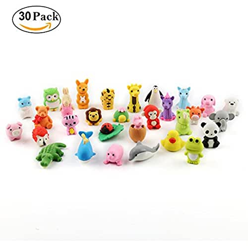 mini kawaii miniaturas kawaii Cusfull 30pcs Mini Gomas de borrar, diseño de animales