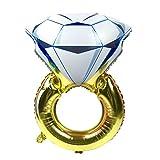BESTOYARD Globos Inflable en Forma de Anillo de Diamante Romántico para Celebración Boda Aniversario Despedida de Soltera