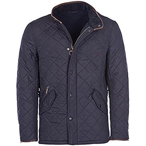 Barbour Powell acolchada chaqueta de los hombres MQU0281, hombre, POWELL, azul marino, mediano