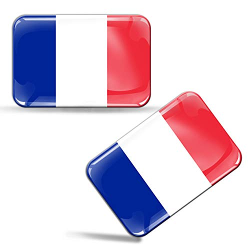 Frankreich-gel (2 x Aufkleber 3D Gel Silikon Stickers Frankreich France Flagge Fahne Auto Motorrad Fahrrad Fenster Tür PC Handy Tablet Laptop F 33)