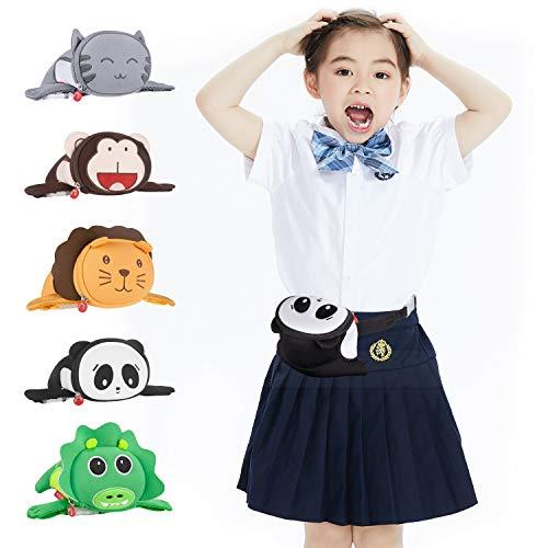 Termichy Karikatur Panda Gürteltasche, Hüfttasche für Kinder Jungen, Mädchen und Kleinkinder im Kindergarten, Tolles Geschenk, Elternteil-Kind-Kleidungszubehör ()