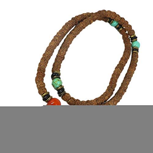 sharprepublic Tibetischer Buddha 108 8mm Gebetskette Halskette Armband Entspannungsmeditation