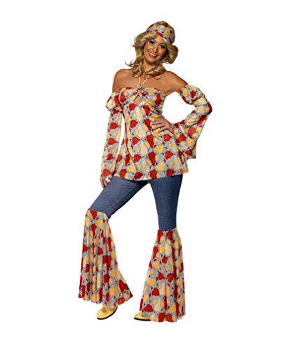 Kostüm Girl Seventies - Horror-Shop 70er Flower Power Girl Kostüm M 40-42