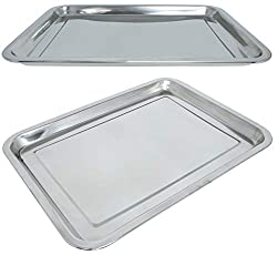 Marinax 3Piece Stainless Steel Tray Rectangular 31,5x21,5cm or 39,5x29,5cm to choose from (31,5x21,5cm)