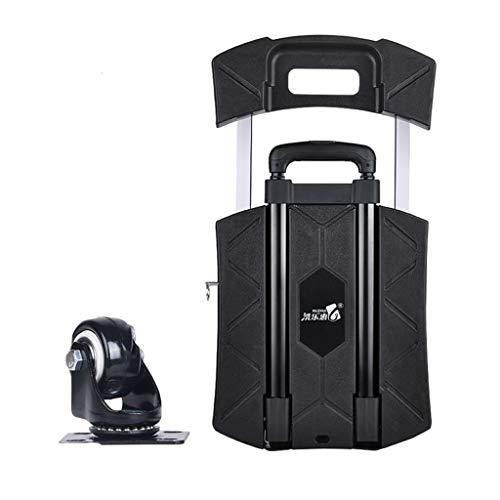 Laufkatze, kleiner Wagen-Lebensmittelgeschäft-Einkaufswagen-Zug-LKW-faltendes Auto-tragbarer Laufkatzen-Haushalts-Flachbett-Laufkatzen-Van-Anhänger 44.5 * 31 * 11cm (Color : Black, Size : A) - Lkw Lebensmittelgeschäft