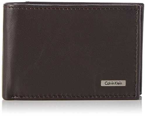 Calvin Klein Jeans Rail Mini 6CC + Coin, Fermasoldi Uomo, Marrone (Turkish Coffee), 7x3x11 cm