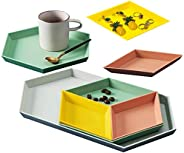 Outdoorfly Plastic Stackable Geometric Jewelry Tray,Home Jewelry Trays,Storage Platters Small Food Serving Tra