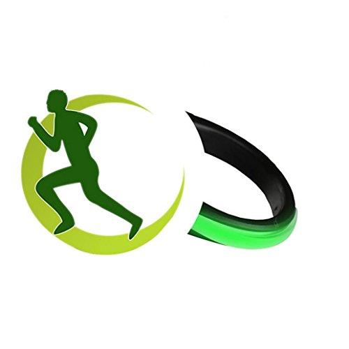 kaarifirefly LED Schuhe Clip Light Sicherheit Warnlampe Night Running Gear zum Joggen Radfahren, grün