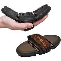 Animalon CareFlex Striegel | Flexibler & Ergonomischer Gummi-Striegel mit Klettverschluss für Jede Putzbox | Pferde Zubehör | Pferdeputzzeug