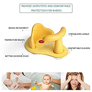 LayOPO Baby Safety Bath Seat, Anti-Slip Shower Safety Chair For Tub Soft Baby Bath Pillow Pad Baby Bath Toys Tub Ring Seat For Infant Child Toddler Kids