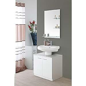 Feridras mobile bagno sottolavabo 45x70x60 2 ante bianco - Sottolavabo bagno amazon ...