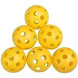 Rrimin Plastic Whiffle Airflow Hollow Golf Practice Training Sports Balls 50Pcs