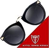ATTCL Damen Vintage Mode Wayfarer polarisiert Sonnenbrille Damen 11189 Black