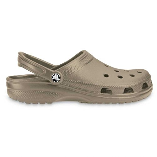 Crocs Classic Unisex-Adult Clogs - Brown (Khaki), 6 UK Men/7 UK Women