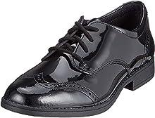 Clarks Sami Walk Y, Scarpe Stringate Derby Bambina, Nero (Black Patent-), 37.5 EU