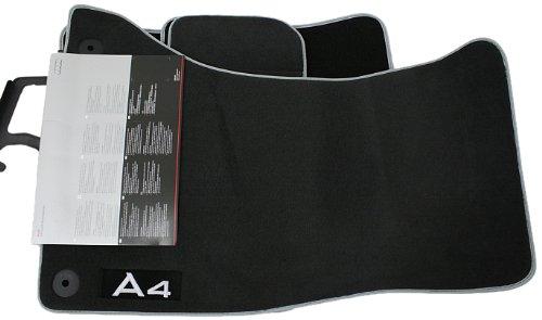 Preisvergleich Produktbild Audi 8K1061270mno Badvorleger Set Textil, mit bestickter Rotulo Soul, schwarz