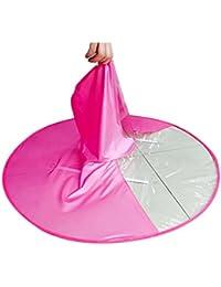 Hosaire 1X Bambini Portatile UFO Ombrello Berretto da testa Piegante  Elastica Copricapo Cappello Sole Pioggia Copricapo 427fc443ad59