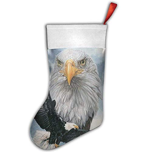 Eagle One Santa (Bald Eagle Christmas Hanging Stocking,Assorted Santa Gift Socks Hanging Accessories for Xmas Tree Decoration Only Printed One Side)