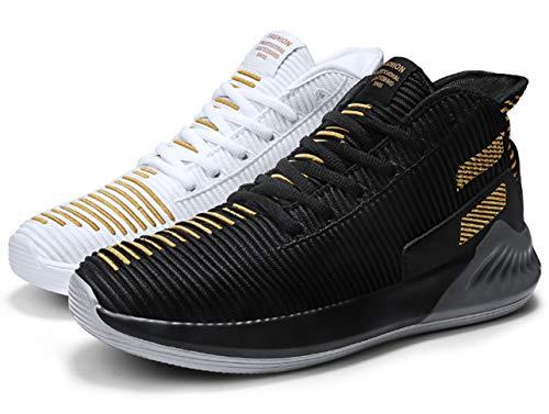 QJRRX Hombres Baloncesto Zapatos Transpirable al Aire Libre Entrenamiento atlético amortiguación Antideslizante...