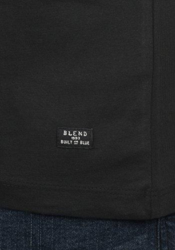 Blend Doppler Herren T-Shirt Kurzarm Shirt mit Rundhals-Ausschnitt Aus 100% Baumwolle Black (70155)
