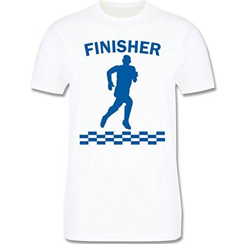 Laufsport - Finisher - Herren Premium T-Shirt Weiß
