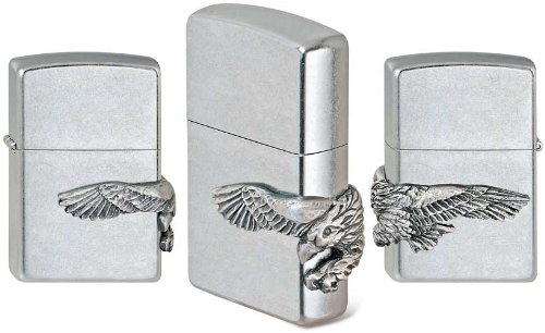 Zippo Feuerzeug 2000850 Eagle Emblem Benzinfeuerzeug, Messing (Zippo Made In Usa Feuerzeug)