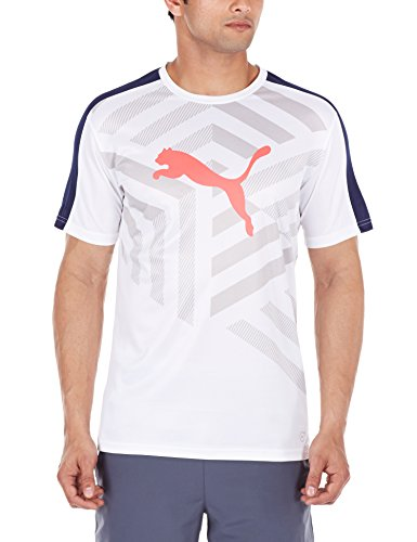 PUMA Herren T-Shirt IT evoTRG Graphic White/Peacoat
