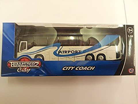 Temsterz 1:50 Scale City Coach (Various Colours and Styles Available) (White Airport Coach) by Teamserz