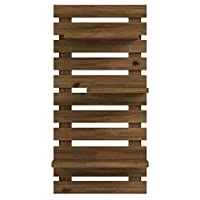 LIZA LINE Decorative Wooden WALL SHELF Bookcase, Bookshelf. Storage Display Unit with 4 Floating Shelves. Solid Nordic Wood - 101x50x21cm