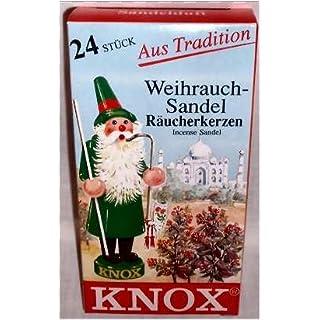 24 Stk. KNOX Räucherkerzchen Sandel, für gute Stimmung und gegen lästige Insekten mit angenehmen Duft, Sandel